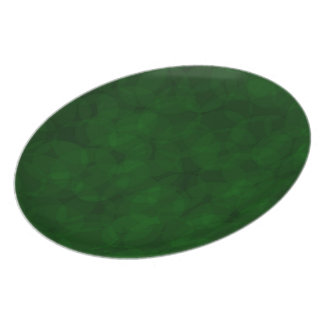 ヴィンテージパターンクリスマスの緑のプレート プレート