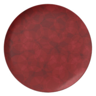 ヴィンテージパターンクリスマスの赤いプレート プレート