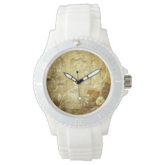 ヴィンテージパターンシリコーンの腕時計 腕時計