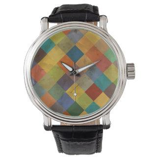 ヴィンテージパターン。 幾何学的 腕時計