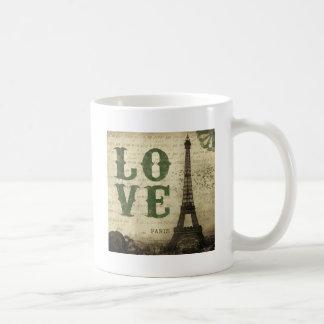 ヴィンテージパリ コーヒーマグカップ