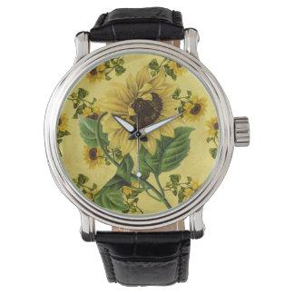 ヴィンテージヒマワリの腕時計 腕時計
