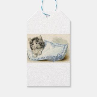 ヴィンテージビクトリアンな猫の子ネコ ギフトタグ