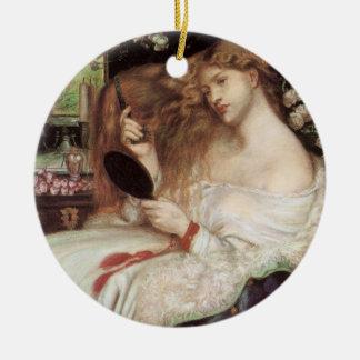 ヴィンテージビクトリアンなPortaitのLilith Rossetti著女性 セラミックオーナメント