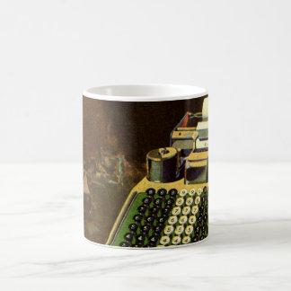 ヴィンテージビジネス会計士、会計機 コーヒーマグカップ