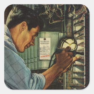 ヴィンテージビジネス電気技師の遮断器パネル スクエアシール