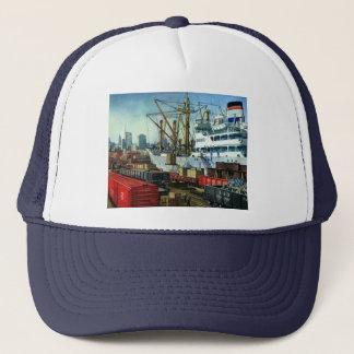 ヴィンテージビジネス、つながれた貨物船の交通機関 キャップ