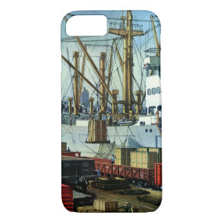 ヴィンテージビジネス、つながれた貨物船の交通機関 iPhone 8/7ケース