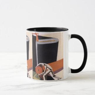 ヴィンテージビジネス、アールデコの生地および織物 マグカップ