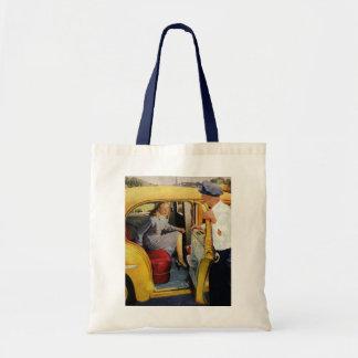ヴィンテージビジネス、タクシーの運転者の女性の乗客 トートバッグ