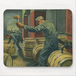 ヴィンテージビジネス、ワイン作成ワインバレルに栓をします マウスパッド