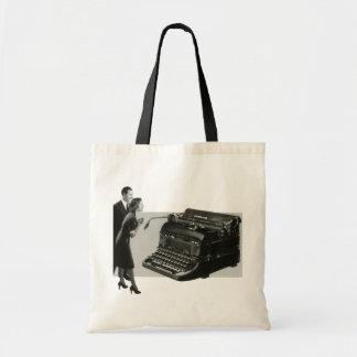 ヴィンテージビジネス、旧式なオフィスマニュアルのタイプライター トートバッグ