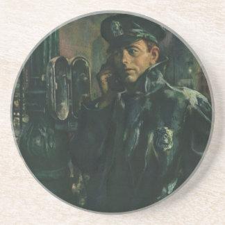 ヴィンテージビジネス、非常電話の警官 コースター