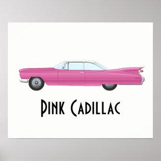 ヴィンテージピンクのキャデラック ポスター