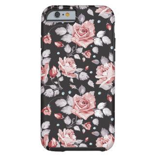 ヴィンテージピンクの花パターンiPhone6ケース ケース