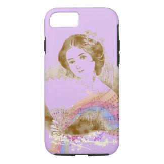 ヴィンテージファンの女性Purple iPhone 7 ToughCase iPhone 8/7ケース