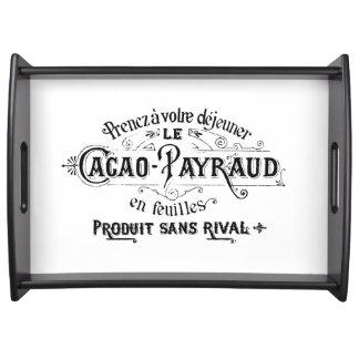 ヴィンテージフランスのなチョコレート広告 トレー