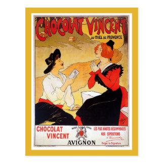 ヴィンテージフランスのなチョコレート広告 ポストカード