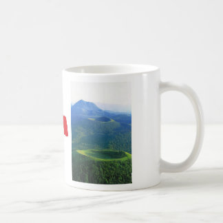 ヴィンテージフランス、オーベルニュ山地の火山噴火口 コーヒーマグカップ