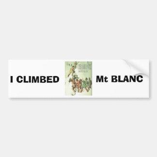 ヴィンテージフランス、シャモニー、Mt Blanc バンパーステッカー
