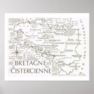 ヴィンテージフランス、ブルターニュCistercienne ポスター