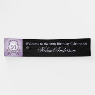 ヴィンテージフレームの第90誕生日の名前入りな旗 横断幕