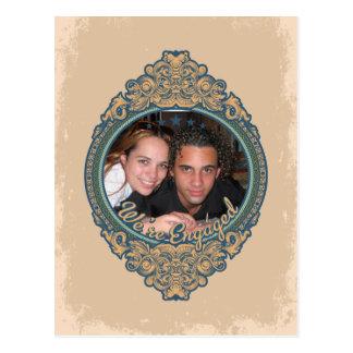ヴィンテージフレーム私達は婚約したです ポストカード
