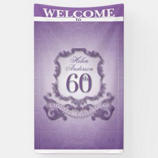 ヴィンテージフレーム第60の誕生祝いの旗 横断幕