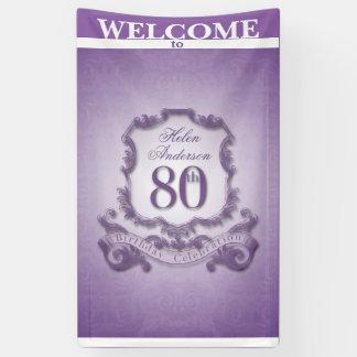 ヴィンテージフレーム第80の誕生祝いの旗 横断幕
