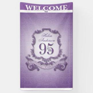 ヴィンテージフレーム第95の誕生祝いの旗 横断幕