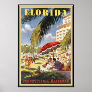 ヴィンテージフロリダ、米国- ポスター