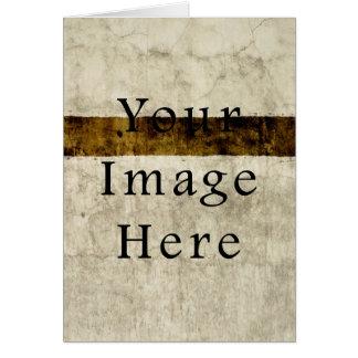 ヴィンテージプラスターベージュタンブラウンの硫酸紙 カード
