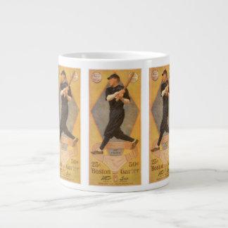 ヴィンテージプロダクトラベルの芸術、ボストンガーター ジャンボコーヒーマグカップ