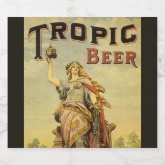 ヴィンテージプロダクトラベルの芸術、熱帯ビール剣闘士 ビールラベル