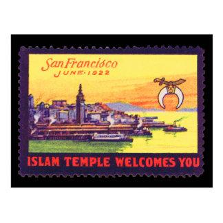 ヴィンテージポスタースタンプの郵便はがき、Shriners SF 1922年 ポストカード
