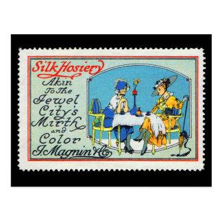 ヴィンテージポスタースタンプの郵便はがきMagninサンフランシスコ ポストカード