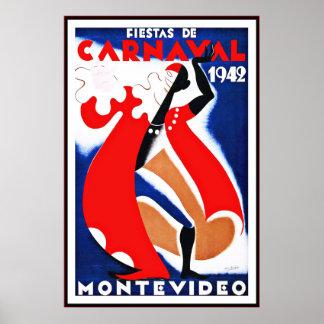 ヴィンテージポスタープリントのモンテビデオウルグアイのフェスタ ポスター