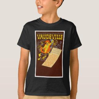 ヴィンテージポスターボードビルのイラストレーション Tシャツ
