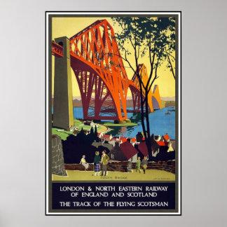 ヴィンテージポスター旅行ロンドンの鉄道スコットランド ポスター