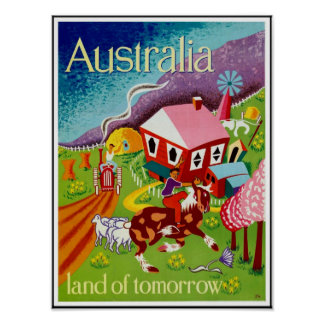 ヴィンテージポスター旅行歴史的芸術オーストラリア ポスター