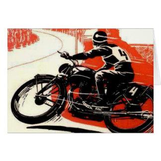 ヴィンテージモーターバイクの競争 カード