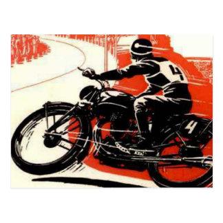 ヴィンテージモーターバイクの競争 ポストカード