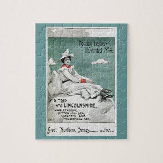 ヴィンテージリンカンシャー州、イギリスの休日のリーフレット ジグソーパズル