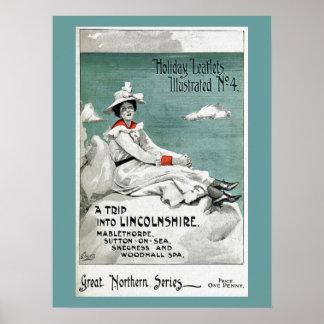 ヴィンテージリンカンシャー州、イギリスの休日のリーフレット ポスター