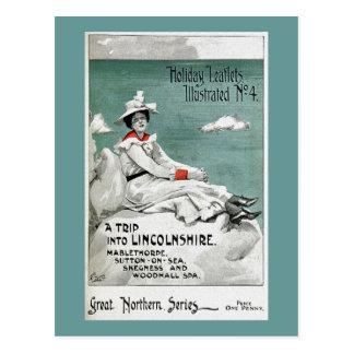 ヴィンテージリンカンシャー州、イギリスの休日のリーフレット ポストカード