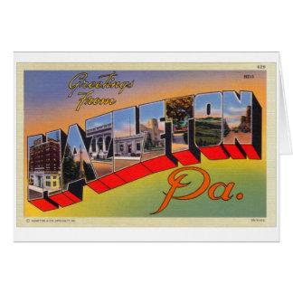 ヴィンテージレトロの低俗なHazeltonのPAの手紙の郵便はがき カード