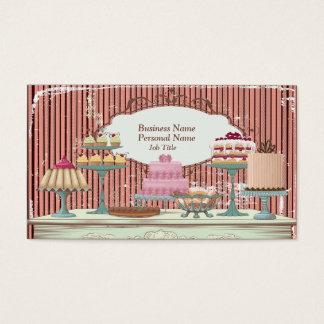 ヴィンテージレトロの甘いキャンデーのベーカリーのバーのプロフィールカード 名刺