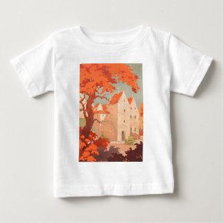 ヴィンテージレトロポスター訪問デンマーク ベビーTシャツ