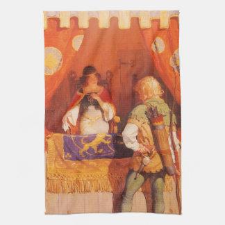 ヴィンテージロビン・フッドはNC Wyethによってマリアナ女中に会います キッチンタオル