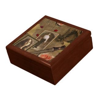 ヴィンテージロミオおよびJuliet Jewlery箱 ギフトボックス